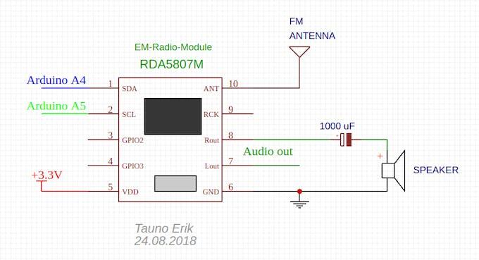 RDA5807 with directli conneced speaker