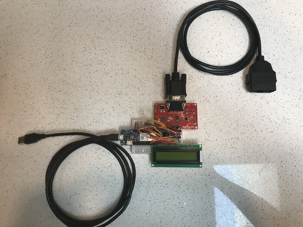 Iot4car Circuit Picture Sorry About The Messy Wiring