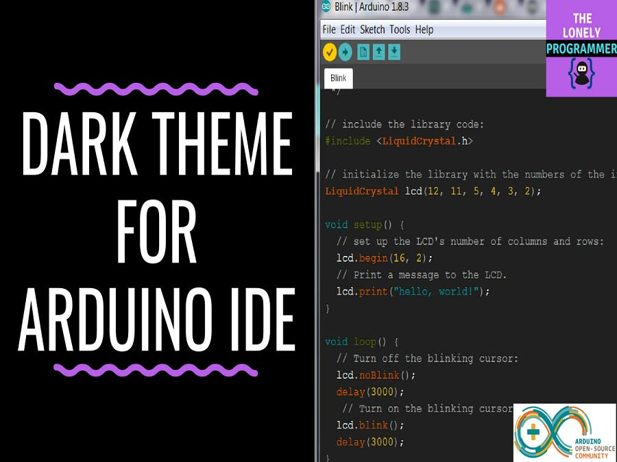 dark theme for arduino ide arduino project hub