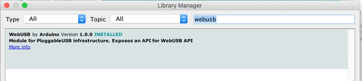 WebUSB + Node-RED + Johnny-Five + Android = Kewlness