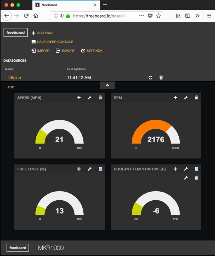 screenshot of my dashboard.