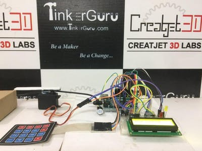 Keyless Door Locking System Using Arduino and 4x4 KeyPad