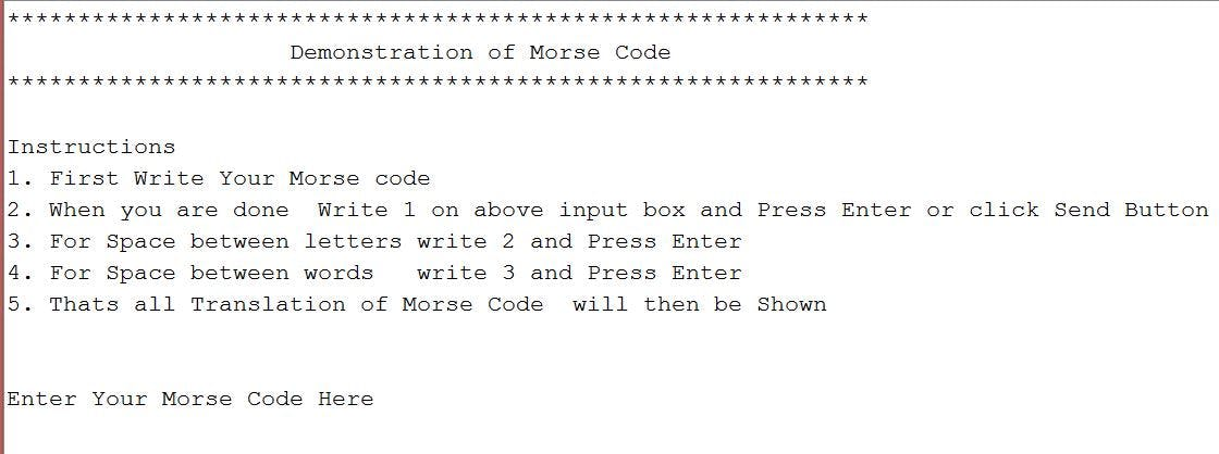 translate word to morse code