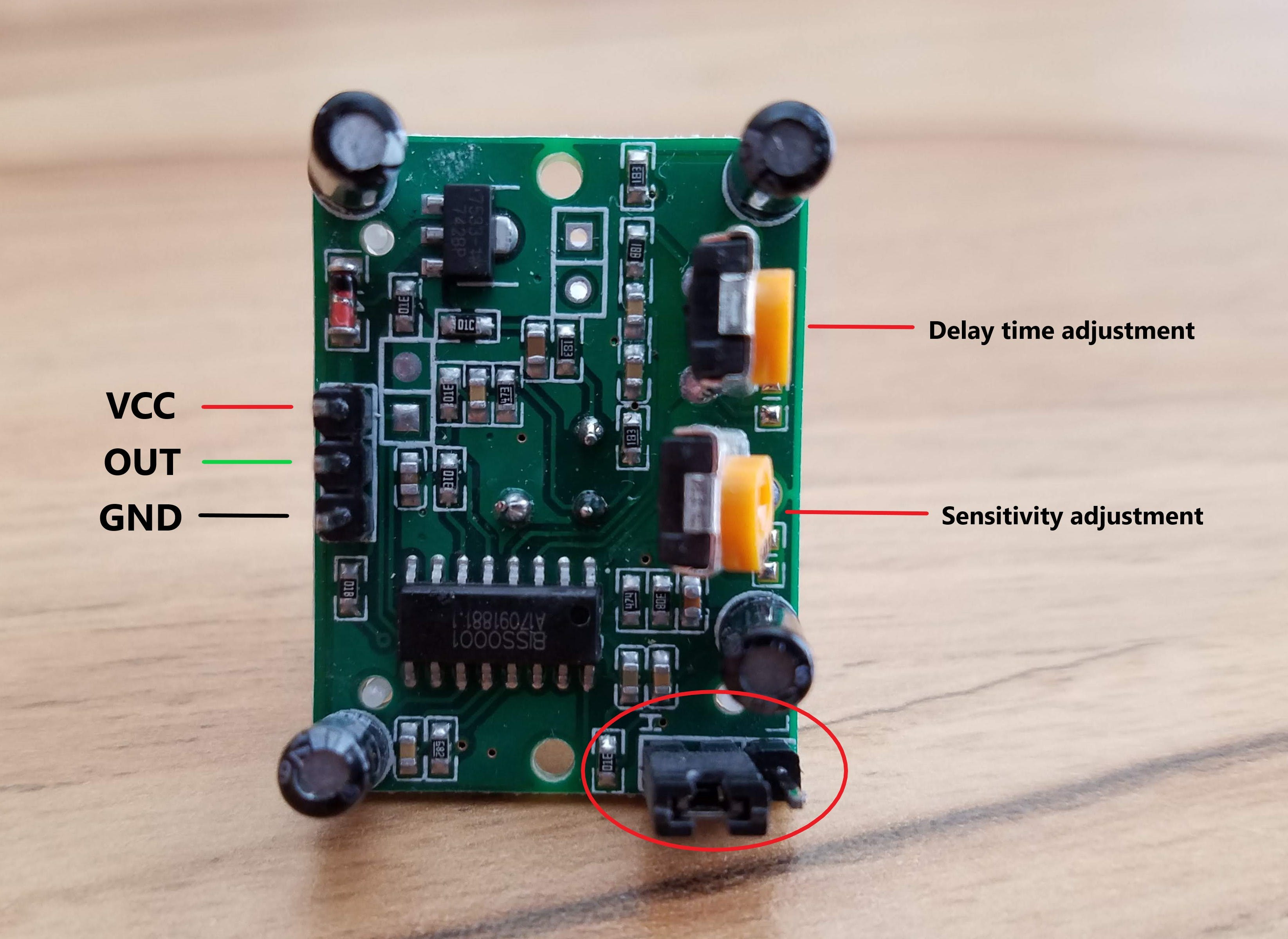 The sensor board is pretty simple!