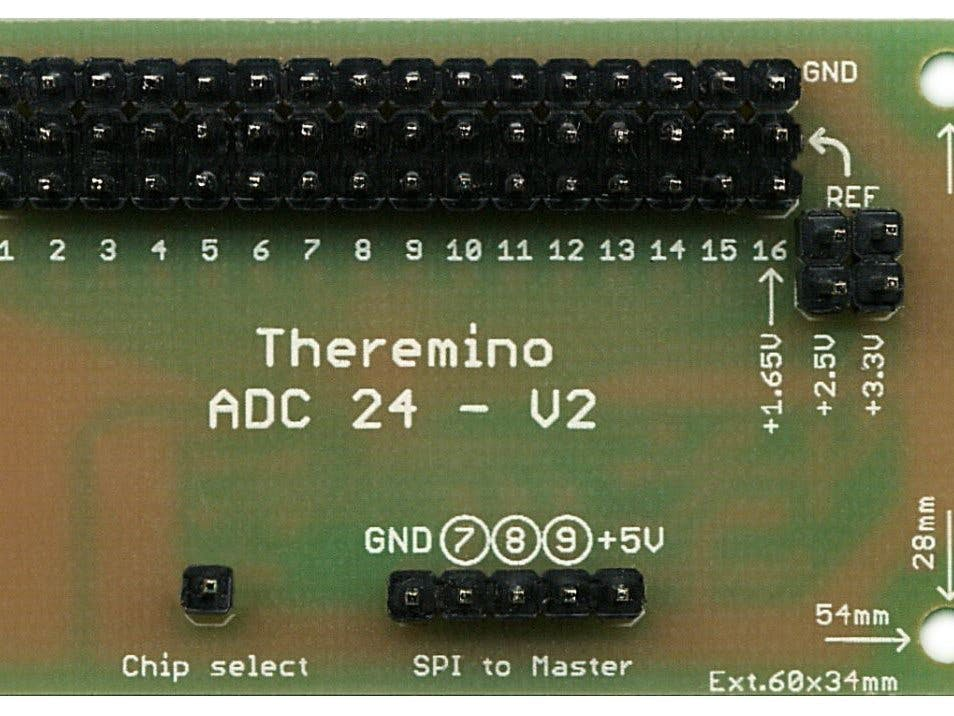 Theremino ADC24 - 16 Channels ADC With 24 Bit