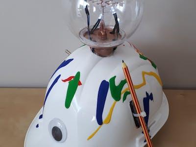 Thinky-I-Nator, the Innovation Safety Helmet