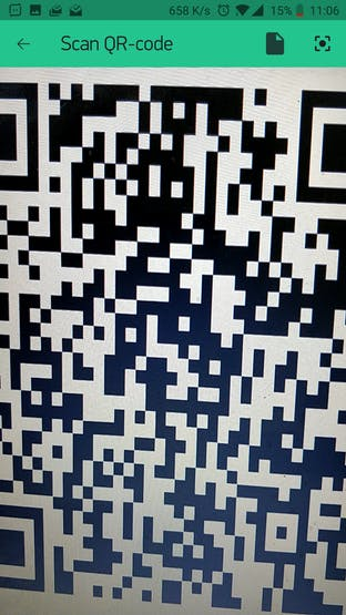 Scan QR Code below with Blynk!