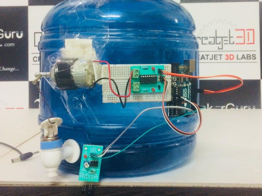 Arduino-Based Automatic Water Tap Using IR Sensor