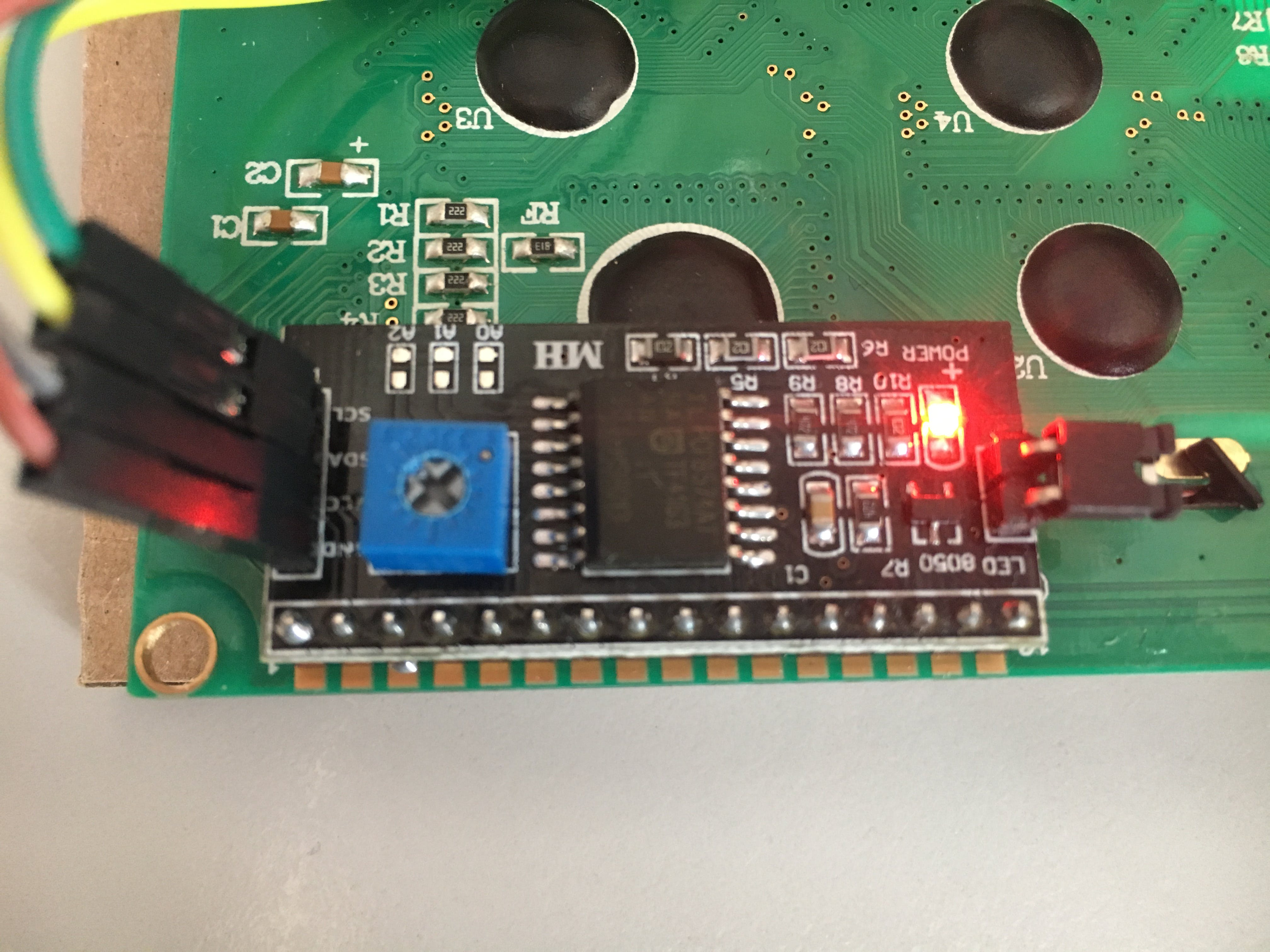 backside with I2C-Adapter from LCD20x4