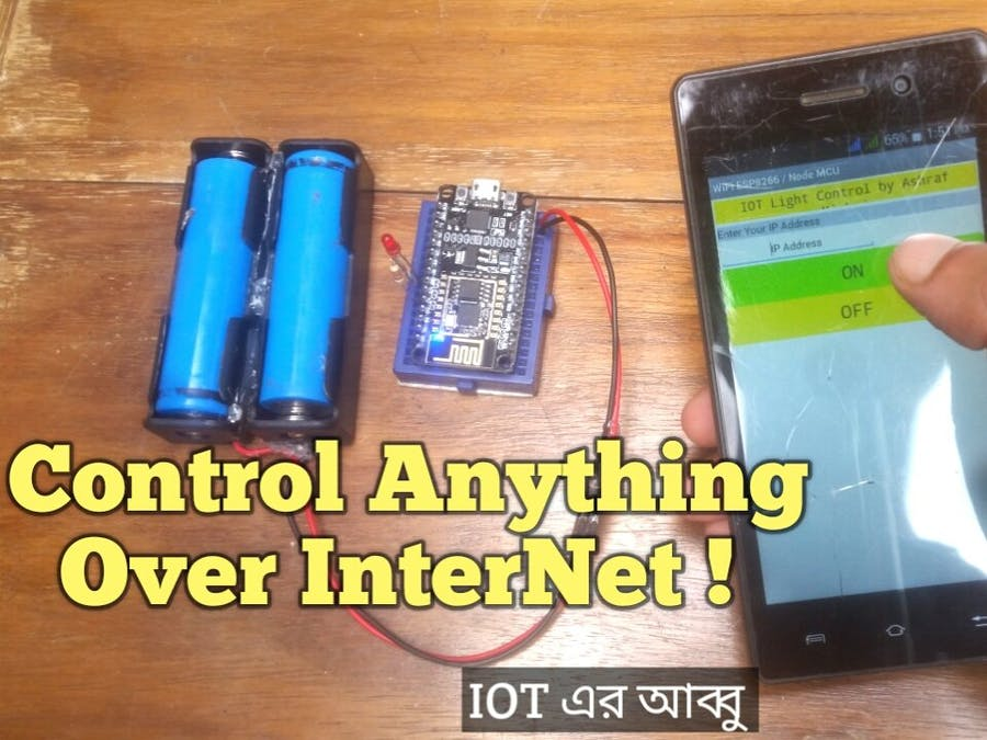 IoT Light Control Over Internet - Arduino or NodeMCU ESP8266