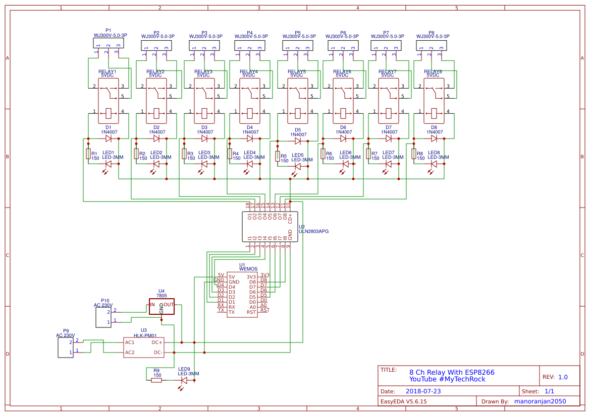 ESP8266 8-Channel Relay Module Home Automation - ster.io on