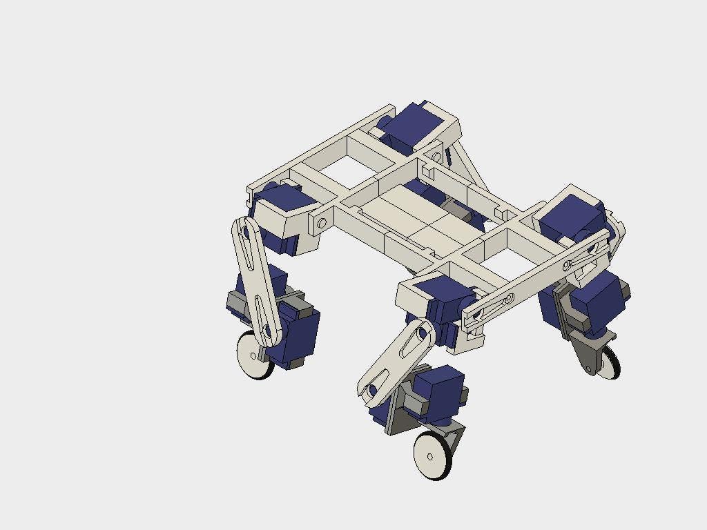 The assembled robot