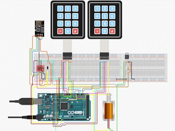 Password Enabled Door Lock Arduino Project Hub