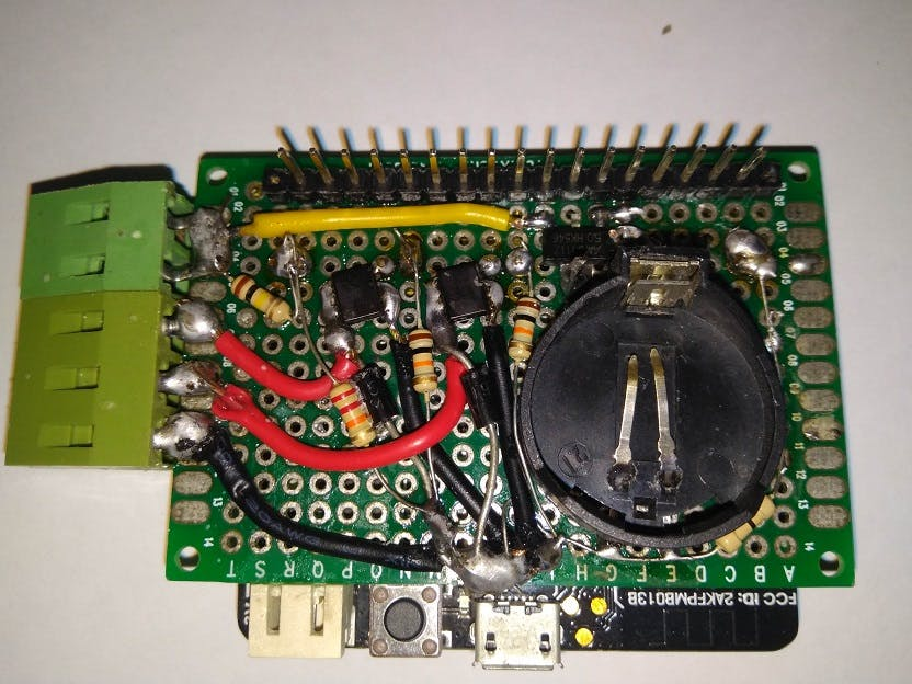 Voltage Divider for ADC and MOSFET for Load Control