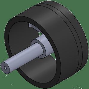 Fig. 4 - Back wheel - modified design.