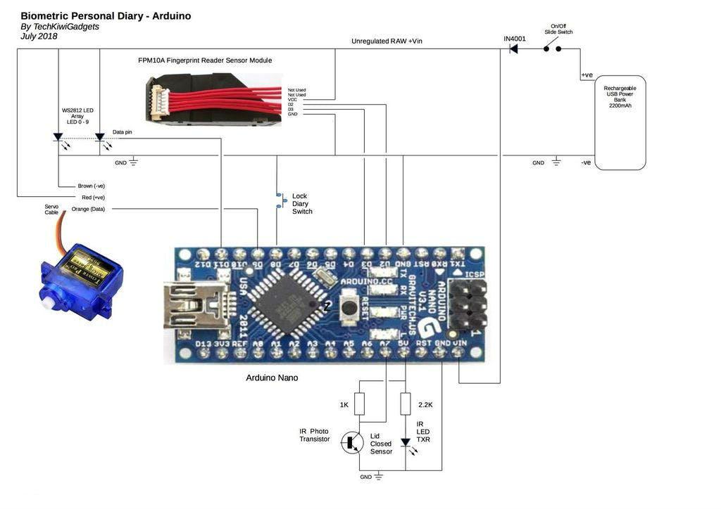 Portable Biometric Lockable Case - Arduino Project Hub   Ws2182b Arduino Wiring Diagram      Arduino Create