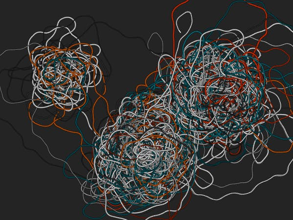 Walabasquiat swarming around three Walabot targets
