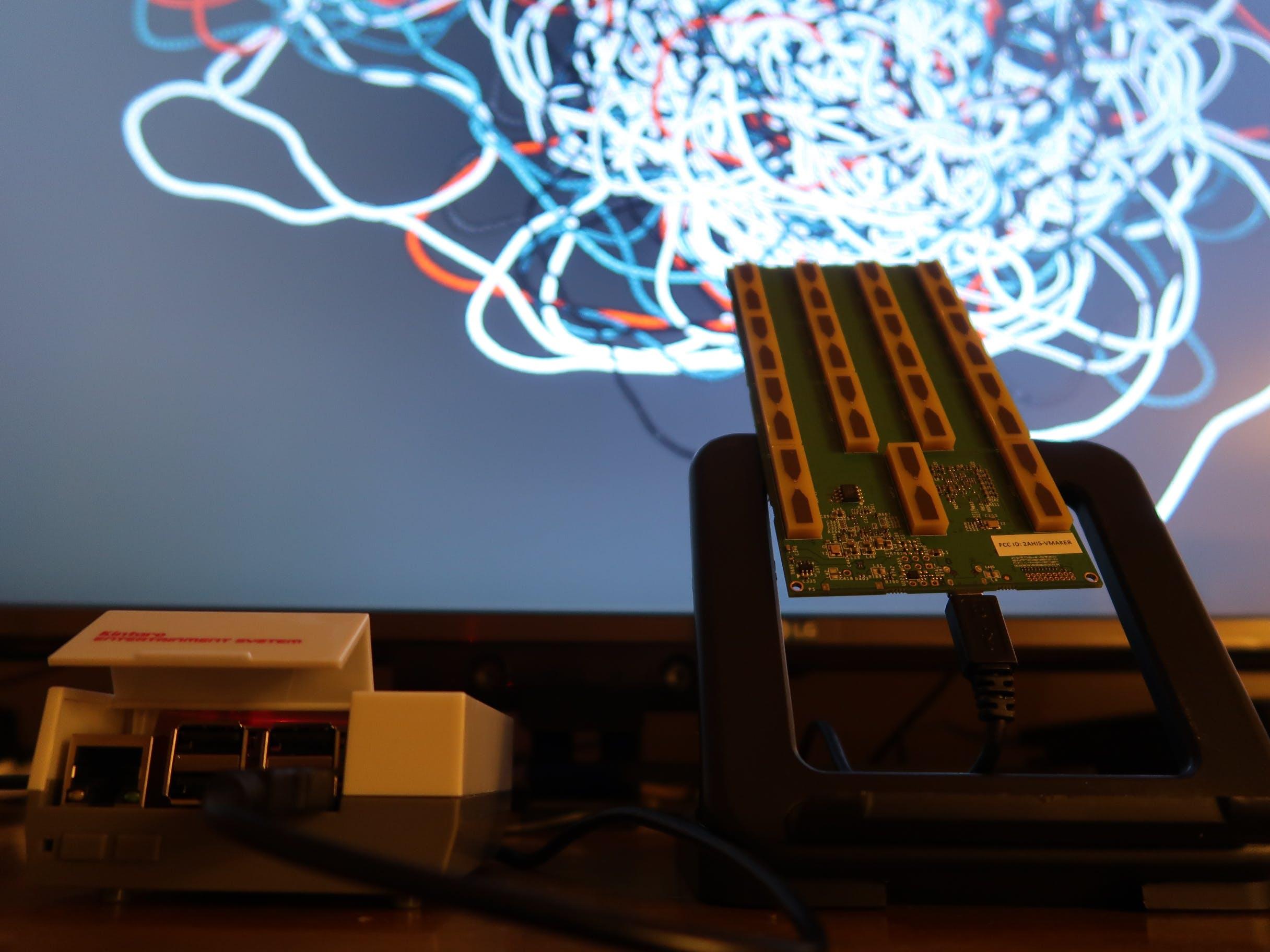 Raspberry Pi + Walabot + Processing = ART!
