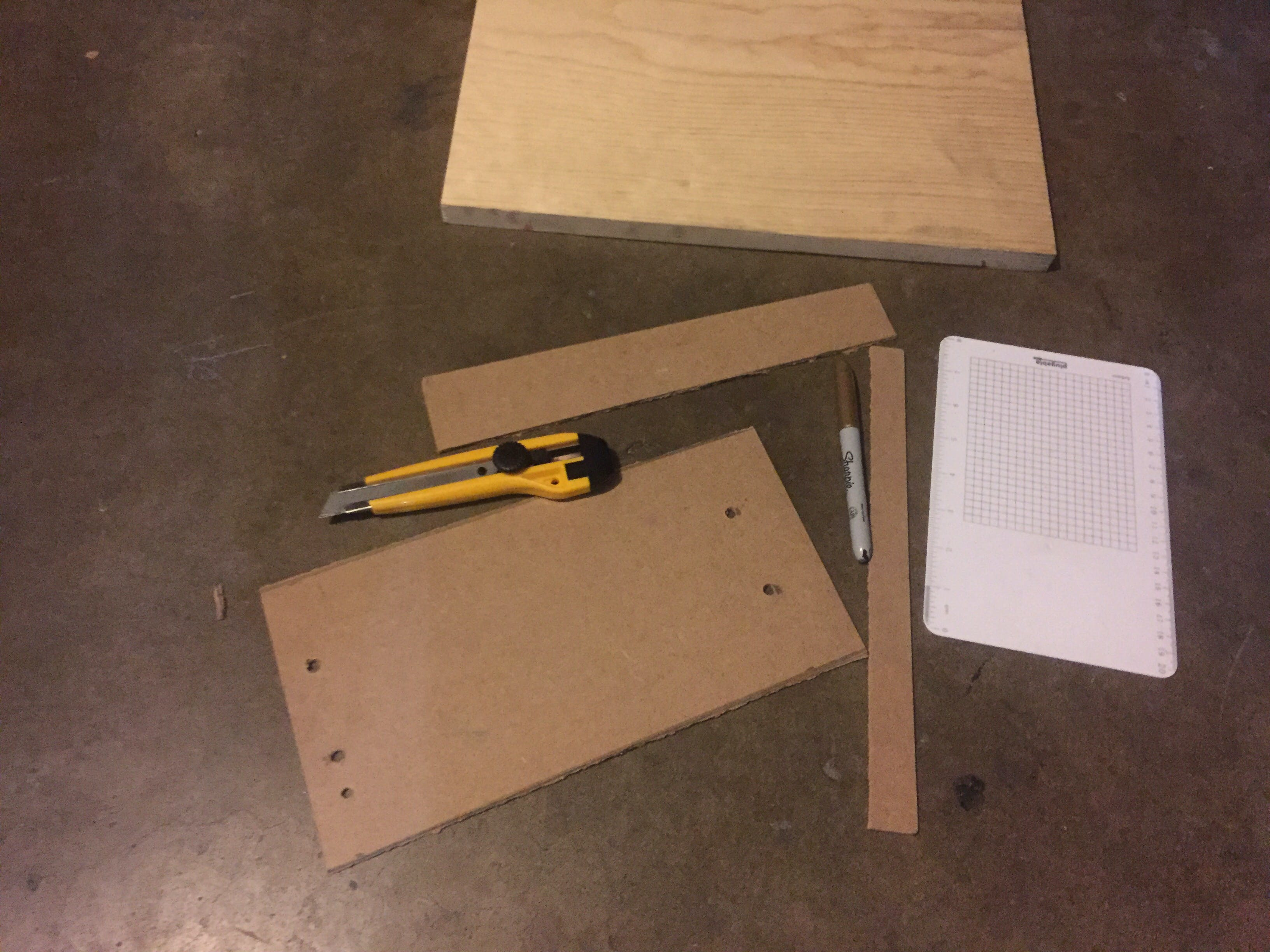 cut holes for supports and paint!