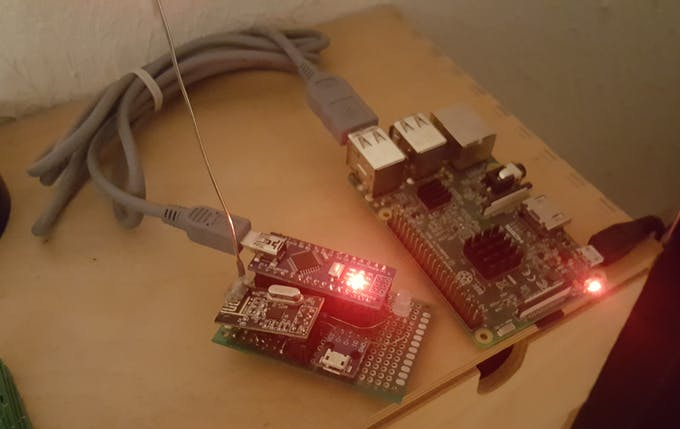 The base node and Raspberry Pi server