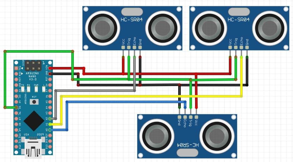 Ultrasonic sensor wiring