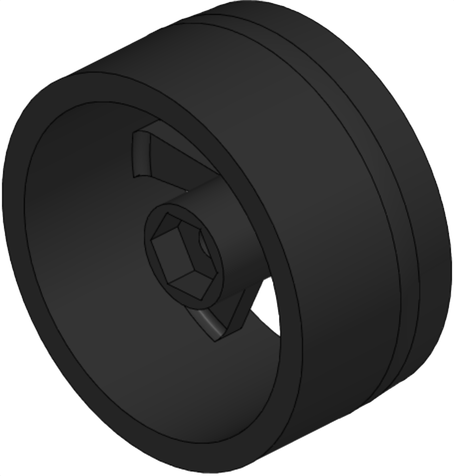 Fig. 4 - Back wheel - original design.
