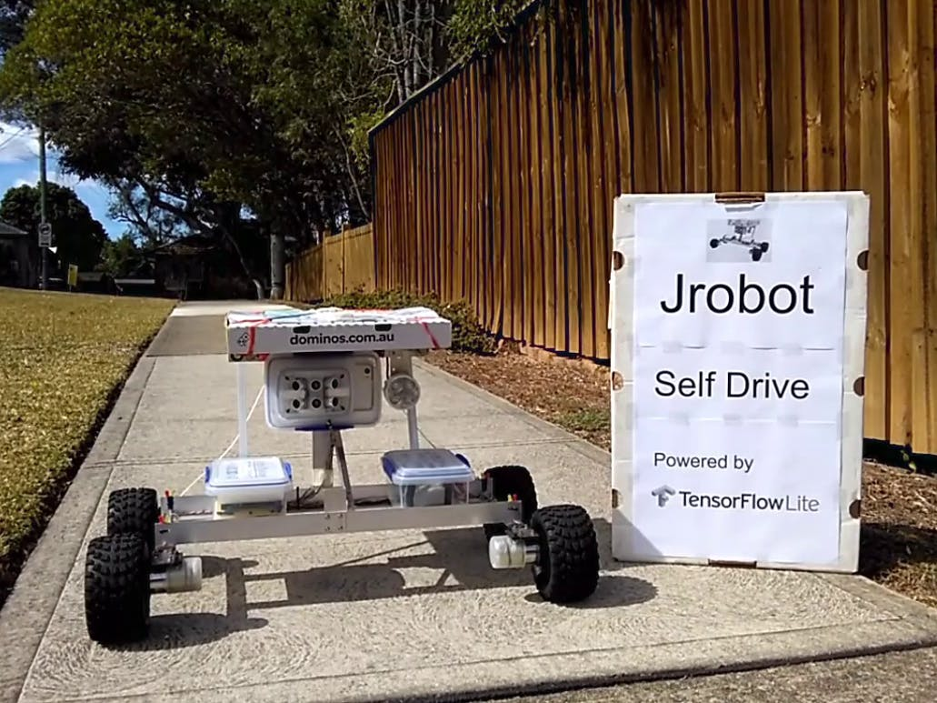 Jrobot Self Drive Powered by TensorFlow Lite