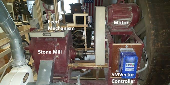 Stone mill setup