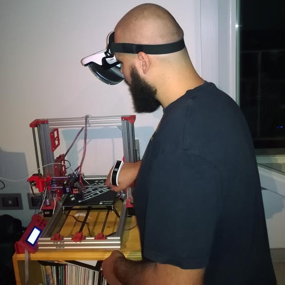How to Connect 3D Printer to AR Glasses for Bed Level aid