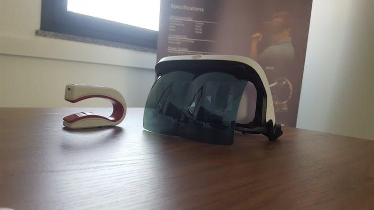 The AR headset we used
