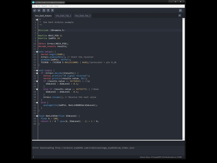One Dark Arduino - Modern Dark Theme for Arduino IDE