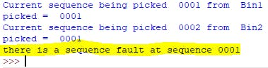 Python shell error after sequence failure