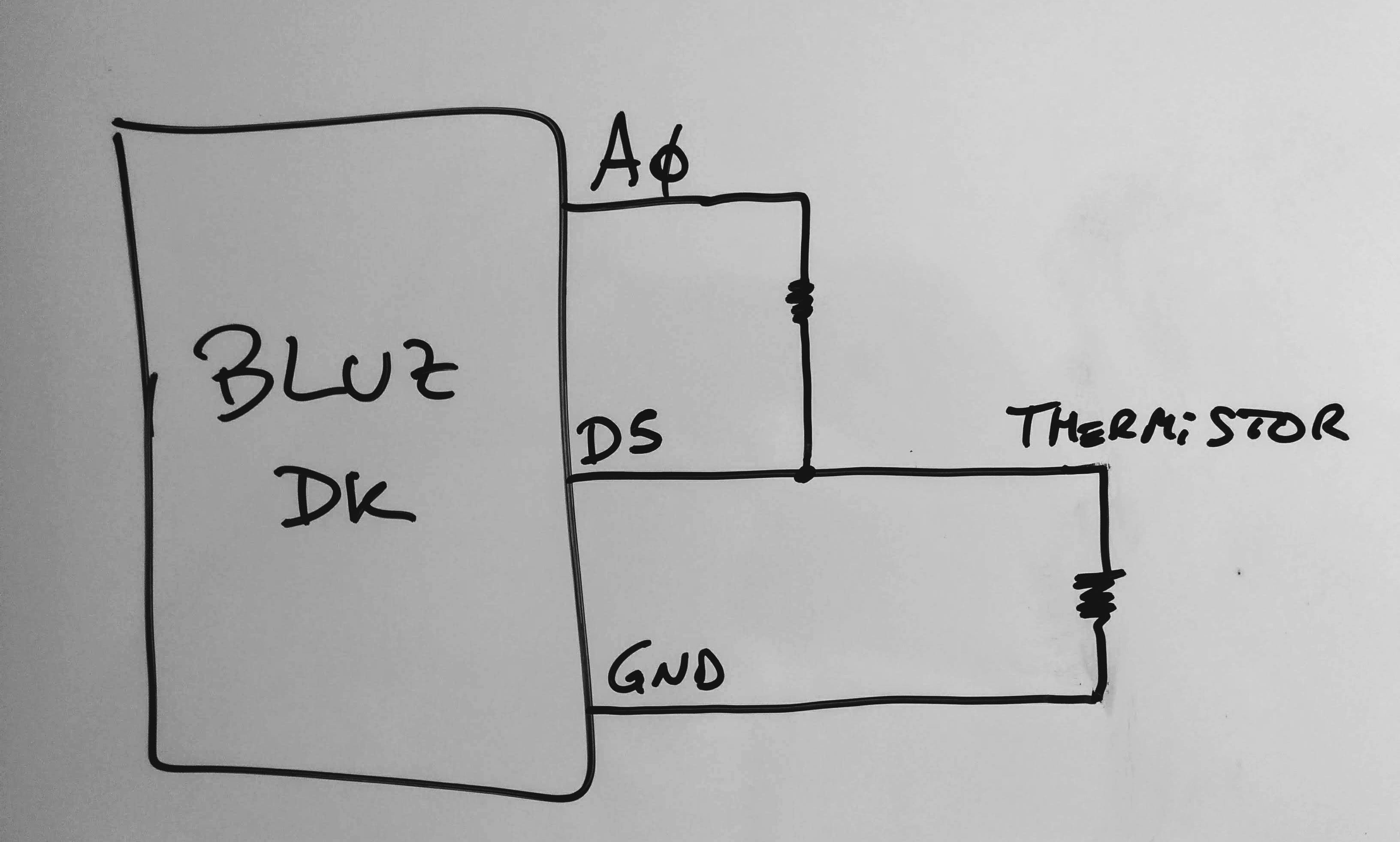 Wiring your sensor to the Bluz DK