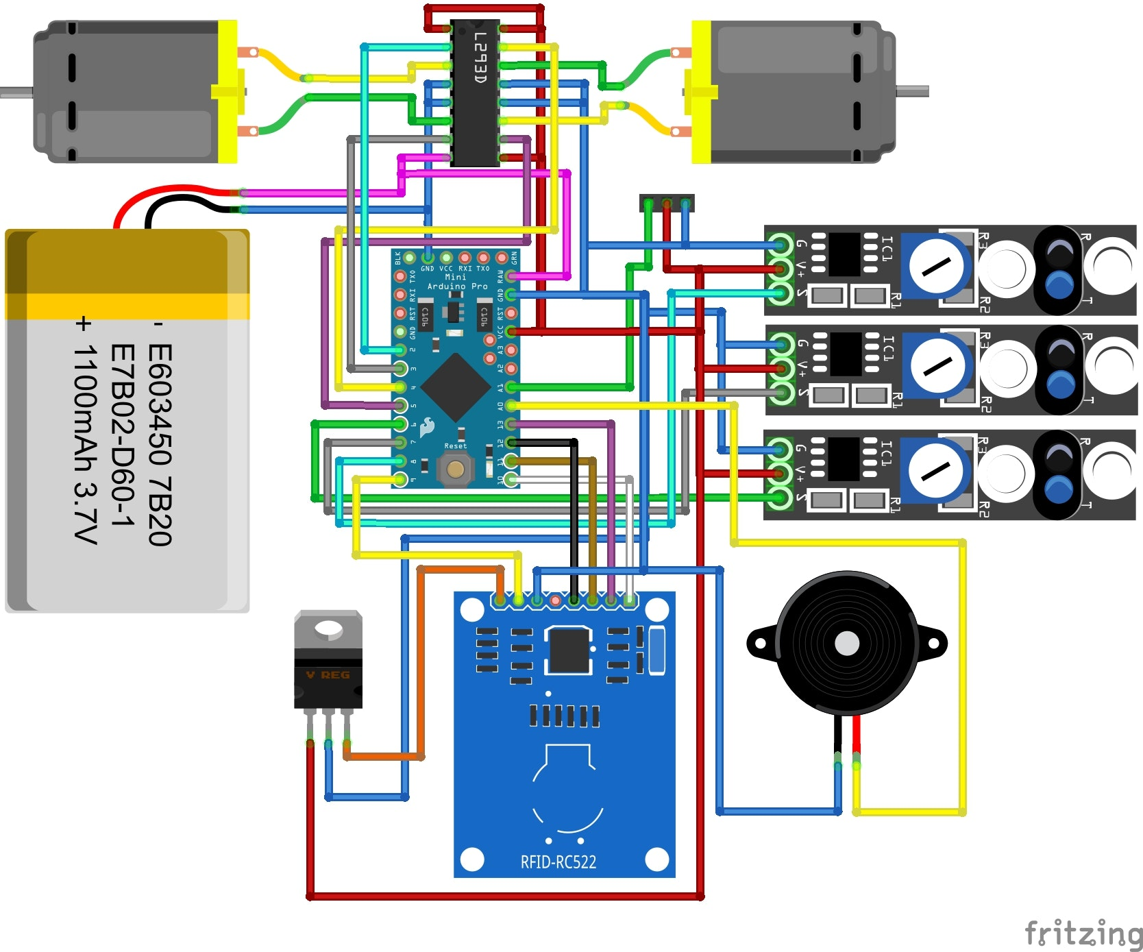 Line Follower Robot Scanner Circuit Diagram - Wiring Diagram Content