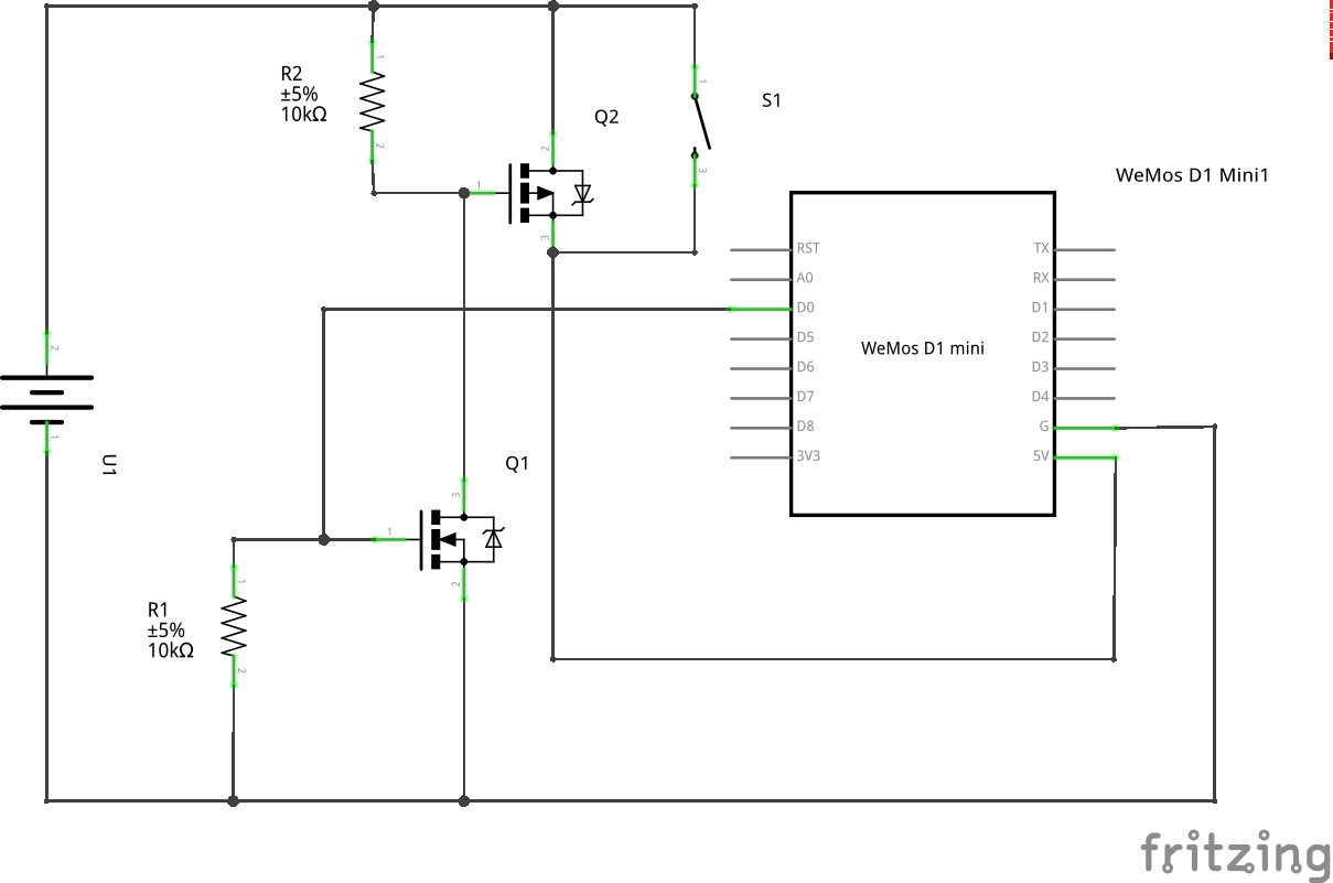 Latching circuit schematic