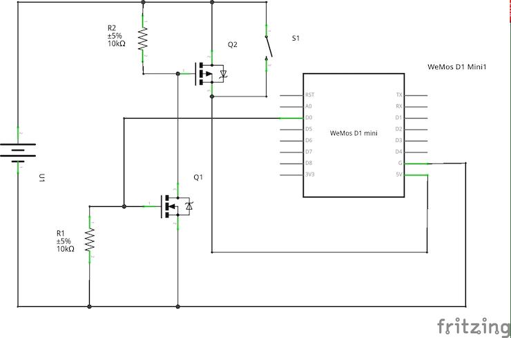 Latching circuit schematic