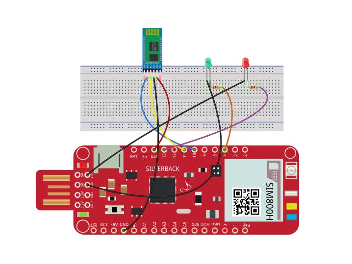 Voice Controlled LEDs Using Bluetooth HC-05 and Surilli GSM