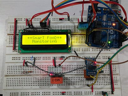 Arduino-Based IoT Project for Food Quality Monitoring