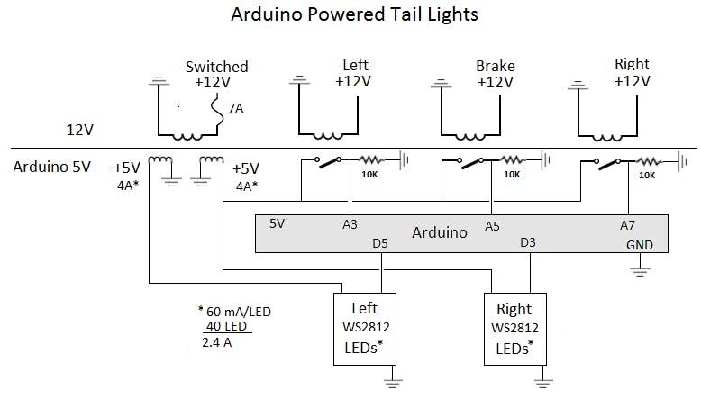 Arduino Motorcycle Tail Lights - Hackster io