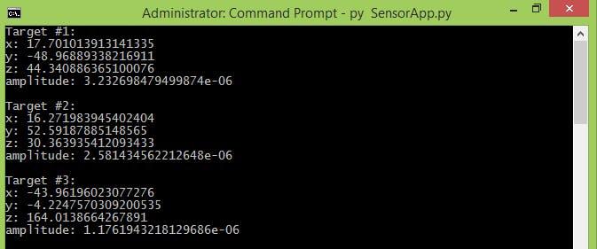 Samples of SensorTargets.py