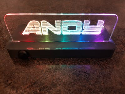 Colour Light Up Sign