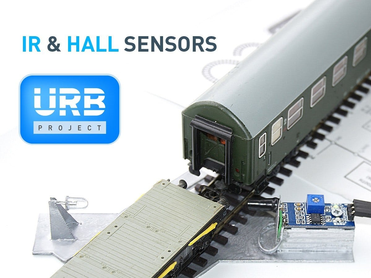 Using IR & Hall Type Sensors for Train Detection