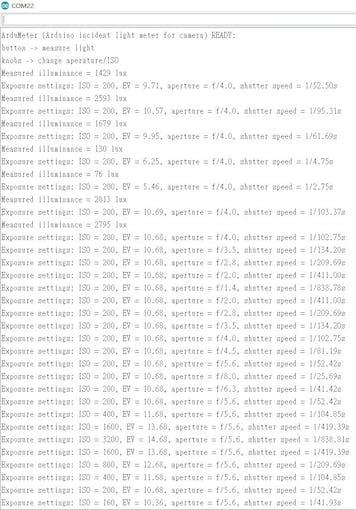 More detailed data via serial port