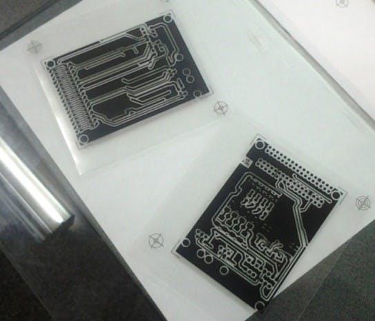 Templates on transparent paper