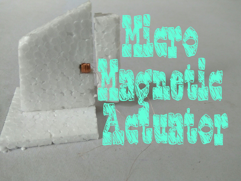 Make Your Own Micro Actuator