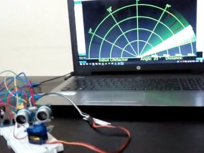 Arduino Radar with Distance and Width