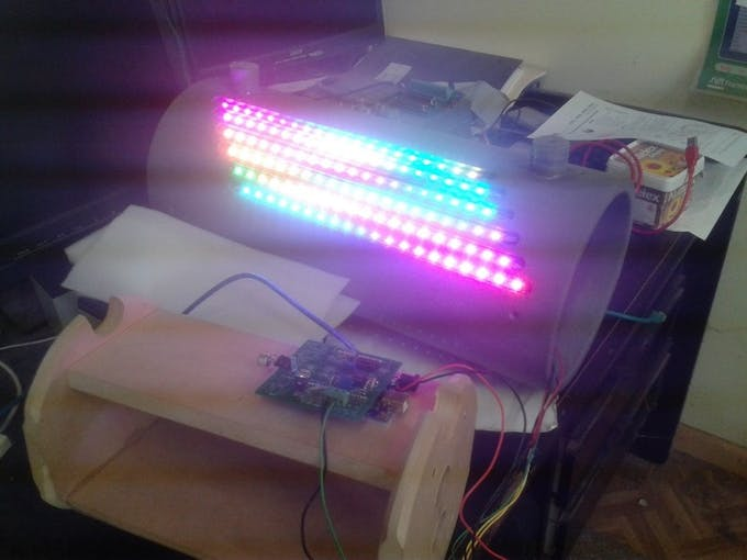 Quick test run of LED before loading the carrier