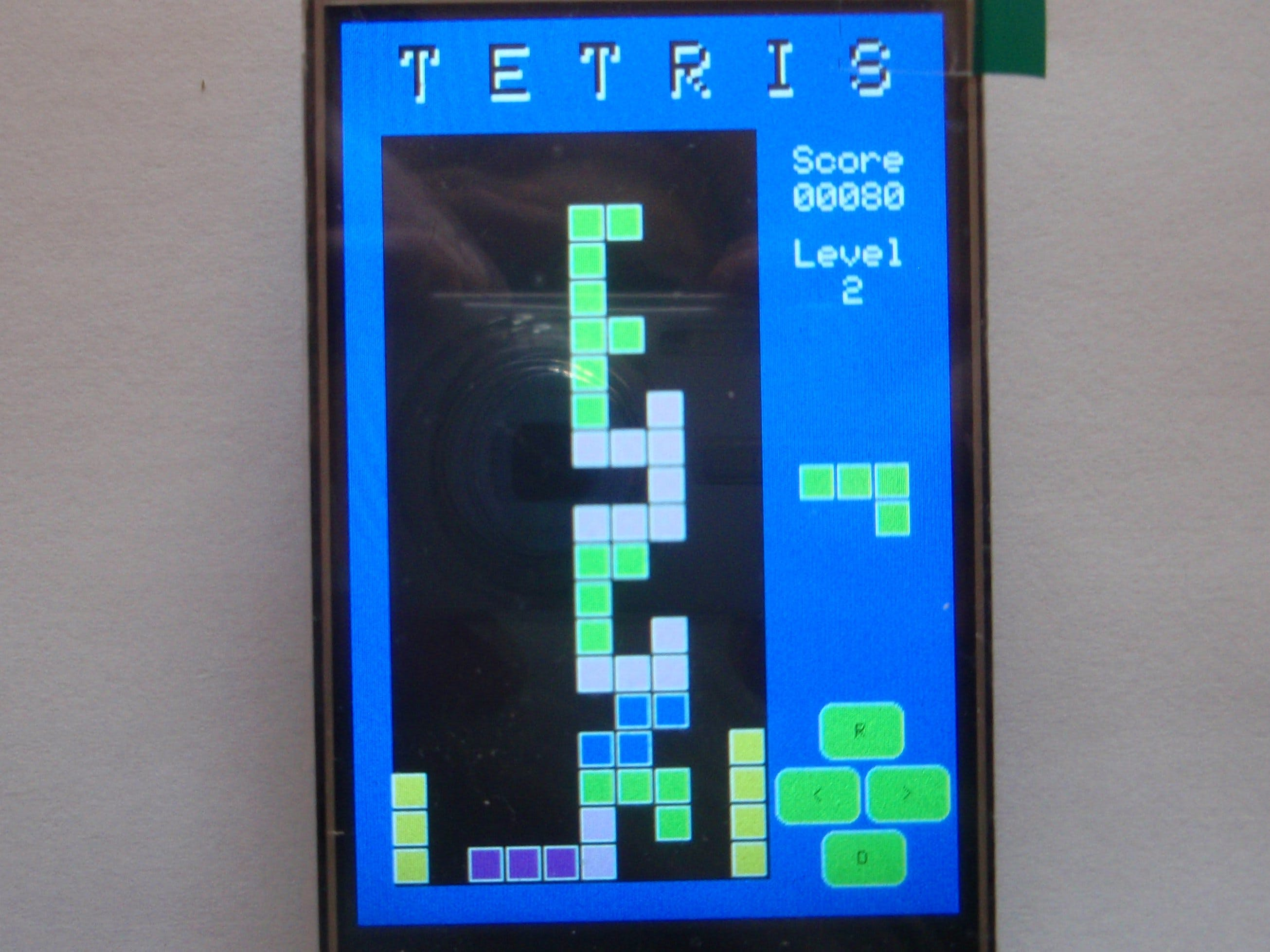 TETRIS clone for Arduino Uno with touchscreen