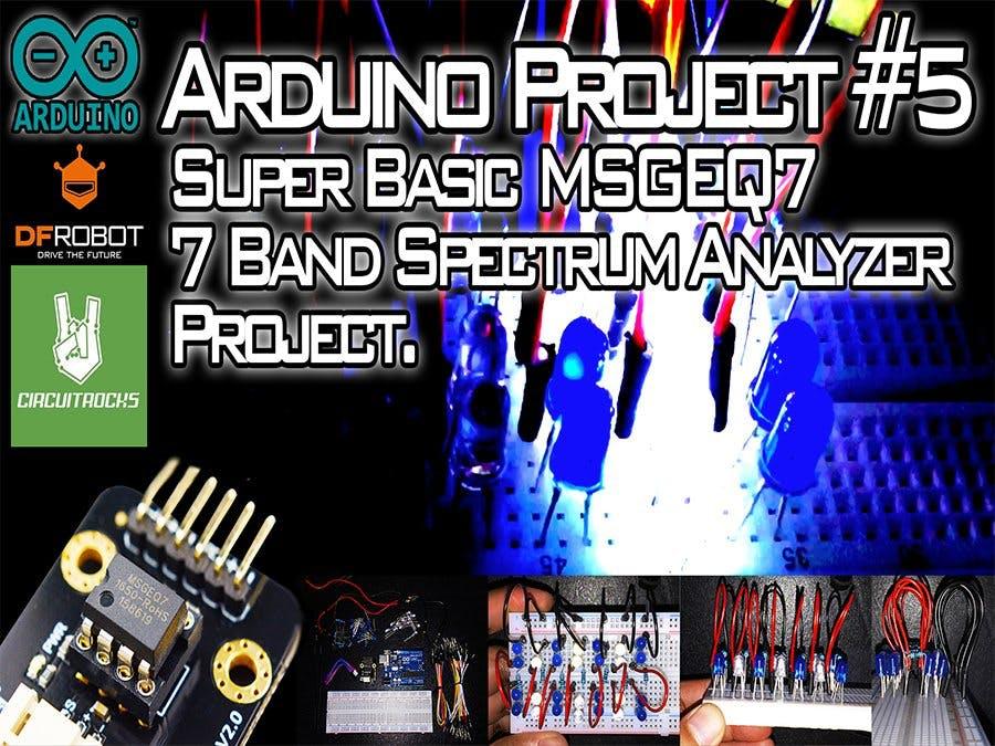 Super Basic MSGEQ7 7 Band Spectrum Analyzer Module Project