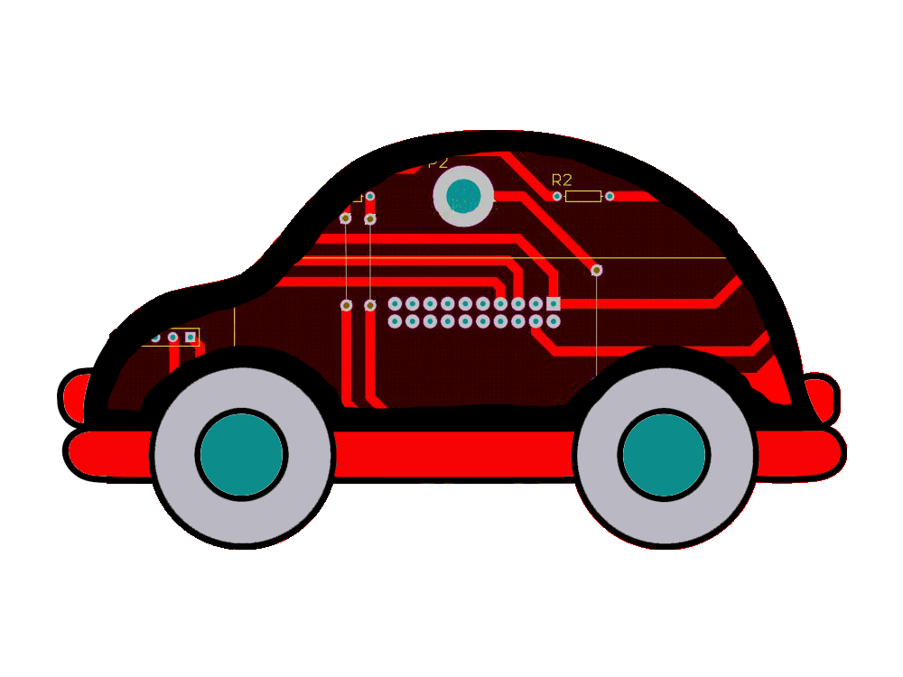 UW-Makeathon: Printed Circuit Car